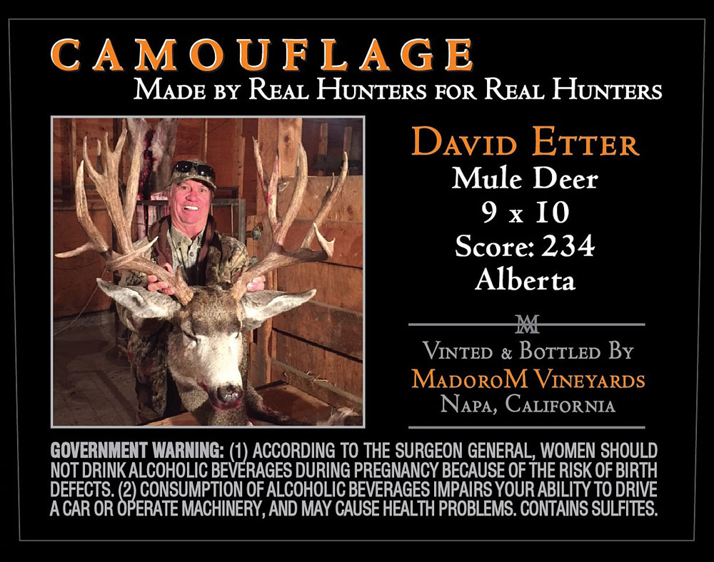 MadoroM Custom Labels: David Etter Alberta Mule Deer